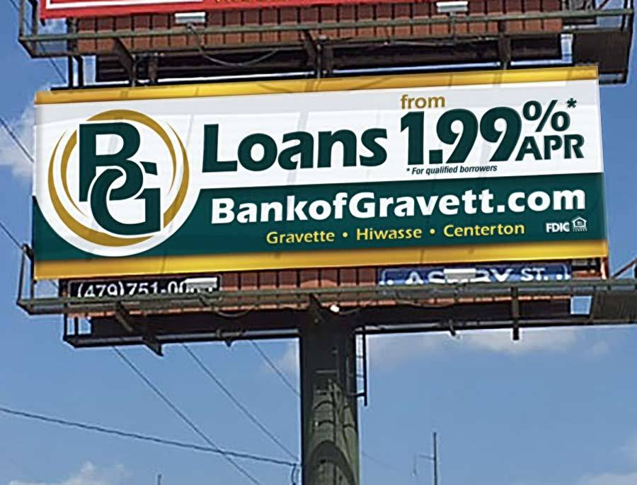 Bank of Gravett - Billboard