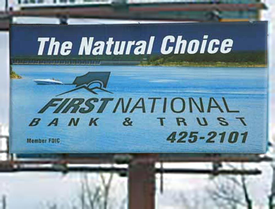 First National Bank & Trust Company - Billboard