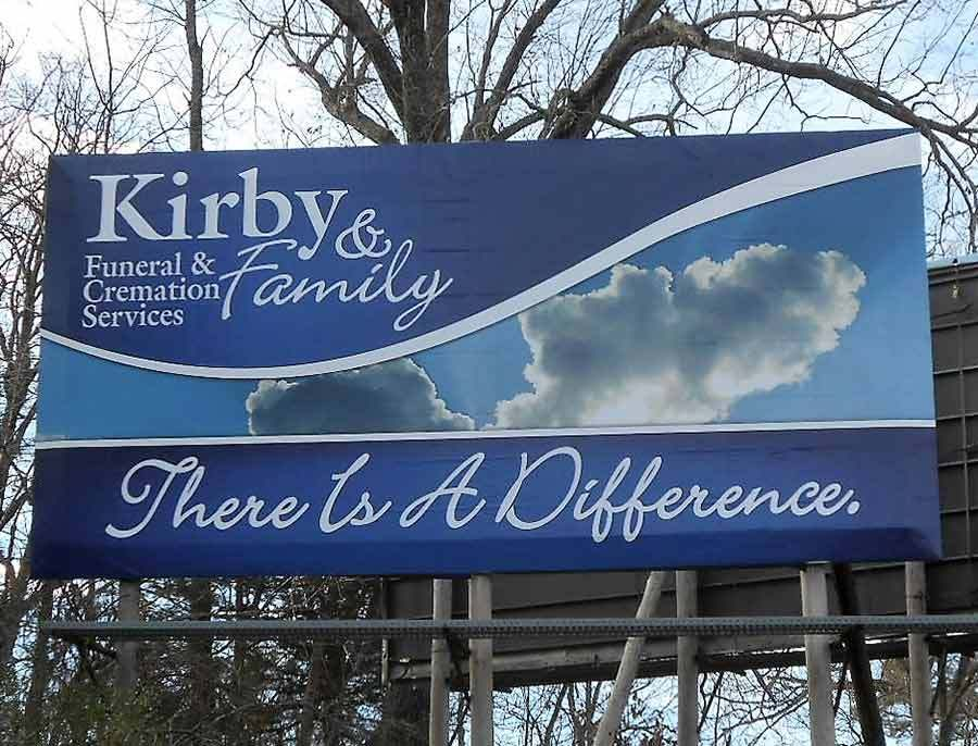 Kirby & Family Funeral & Cremation Services - Billboard