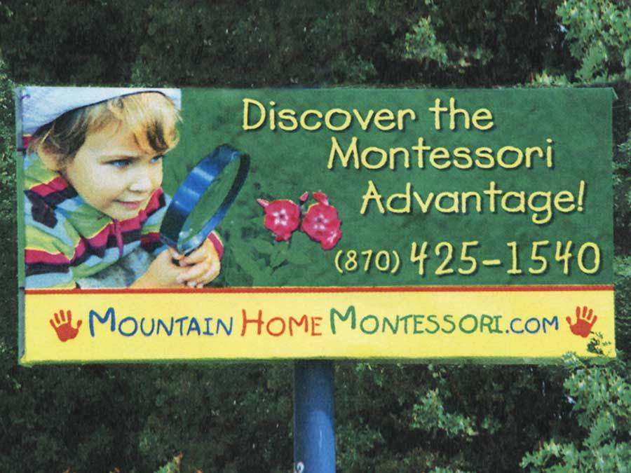 Mountain Home Montessori School - Billboard