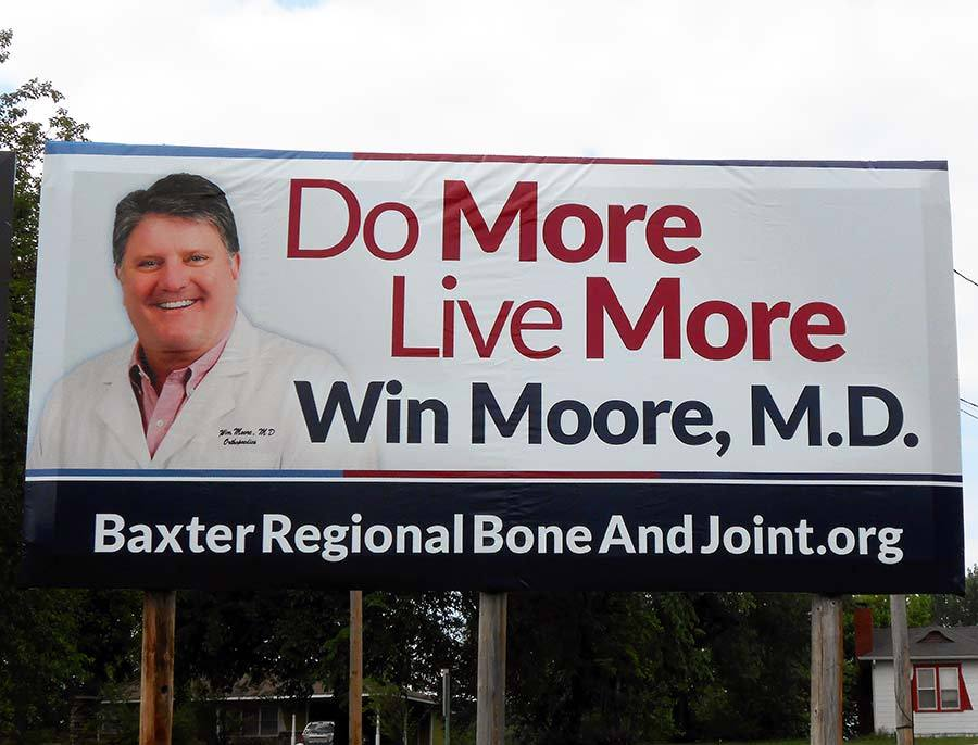 Win Moore, MD - Billboard