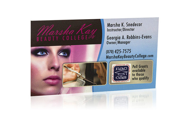 Marsha Kay Beauty College - Business Cards