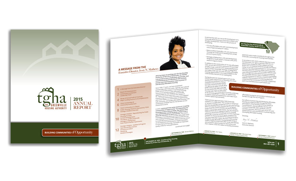 The Greenville Housing Authority - Annual Report - Print & Digital