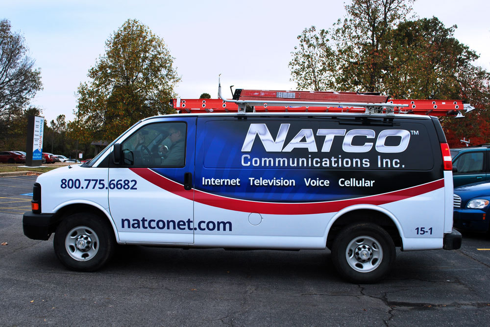 NATCO Communications Inc. - Design & Coordination of Vehicle Vinyl Wrap