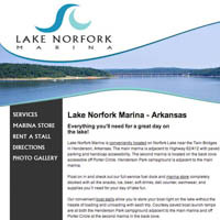 Lake Norfork Marina - Website
