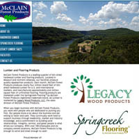 McClain Forest Products - Website
