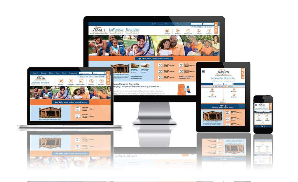 Auburn housing Authority, Alabama - Responsive Website