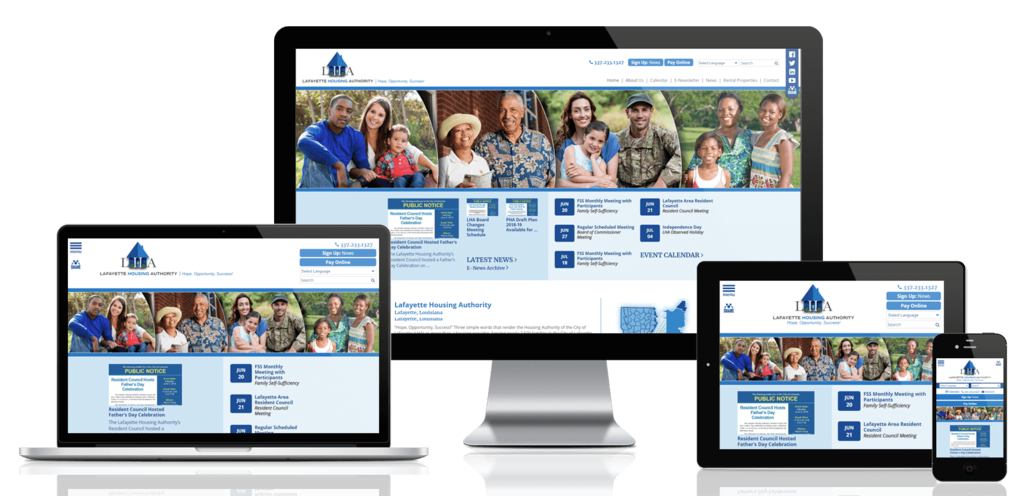 Lafayette Housing Authority, Louisiana - Responsive Website