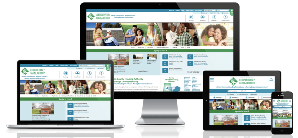 Jefferson County Housing Authority, Alabama - Responsive Website