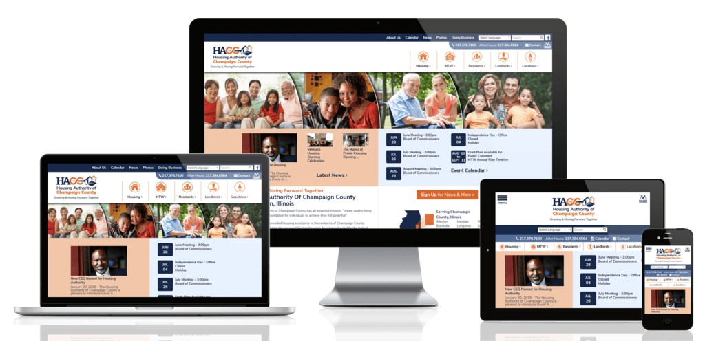 Champaign County Housing Authority, Illinois - Responsive Website