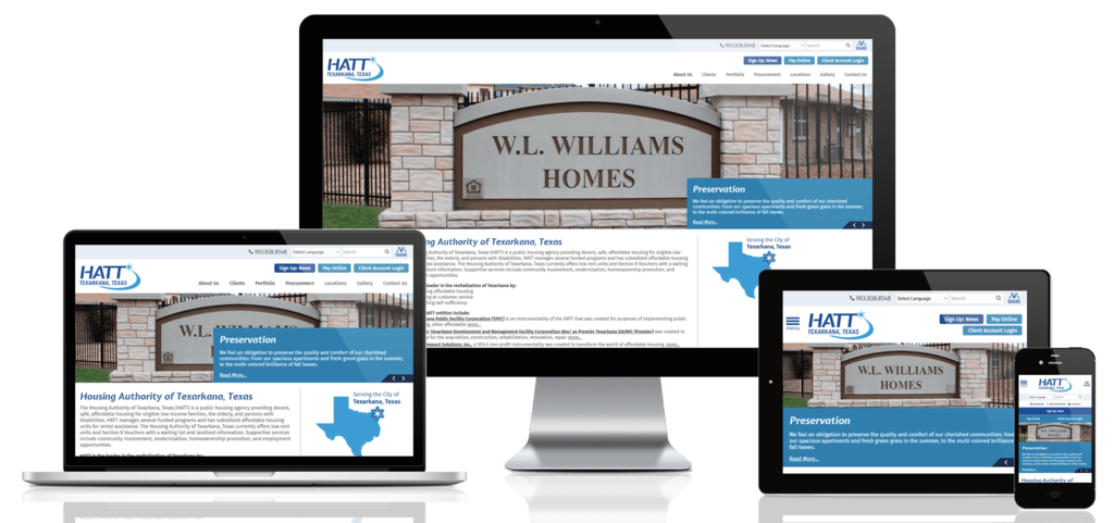 Texarkana Housing Authority, Texas - Responsive Website