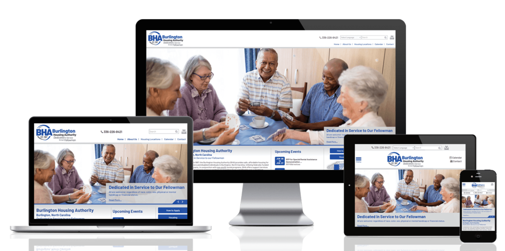 Burlington Housing Authority, North Carolina - Responsive Website