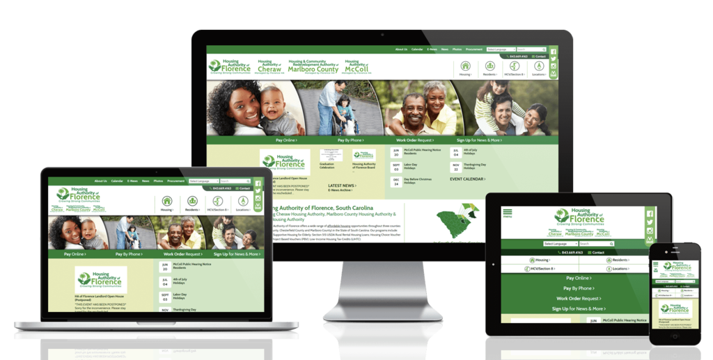 Florence Housing Authority, South Carolina - Responsive Website