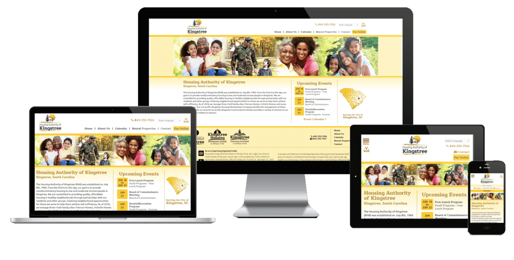 Kingstree Housing Authority, South Carolina - Responsive Website