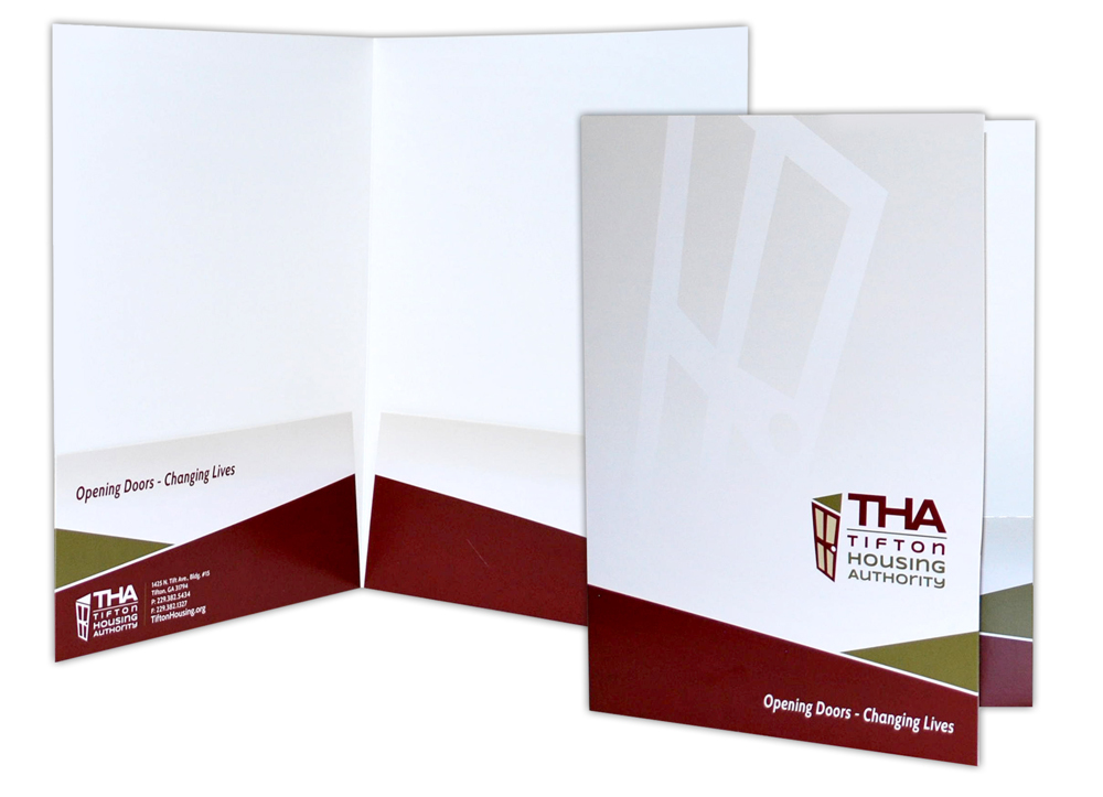 Tifton Housing Authority - Print Materials- Presentation Folders