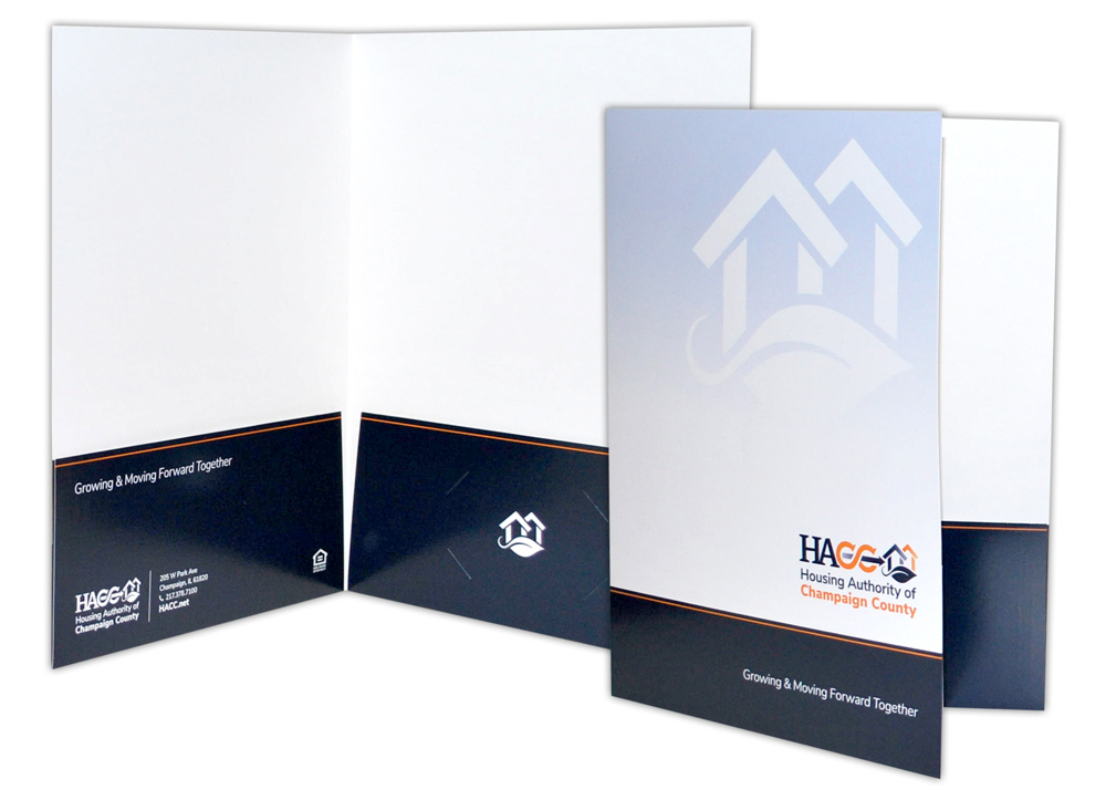 Champaign County Housing Authority, Illinois - Print Materials- Presentation Folders