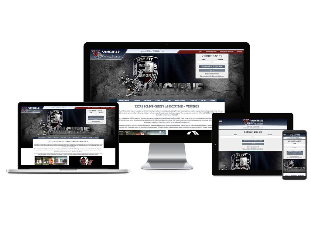 Texas Police Chiefs Association - Vincible - Responsive Website