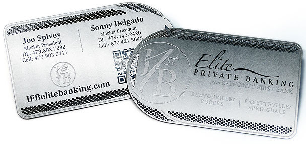 Integrity First Bank - Metal Business Cards