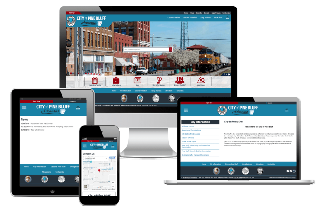 City of Pine Bluff, Arkansas - Responsive Website