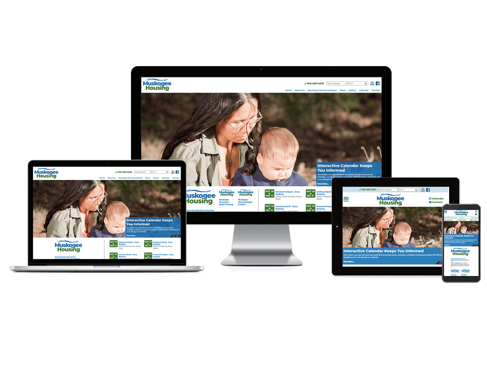 Muskogee Housing Authority, Oklahoma - Responsive Website