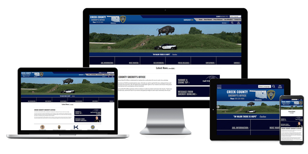 Creek County Sheriff's Office, Oklahoma - Responsive Website