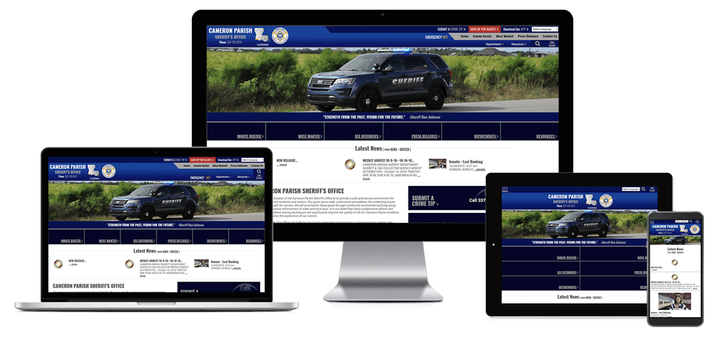 Cameron Parish Sheriff's Office, Louisiana - Responsive Website