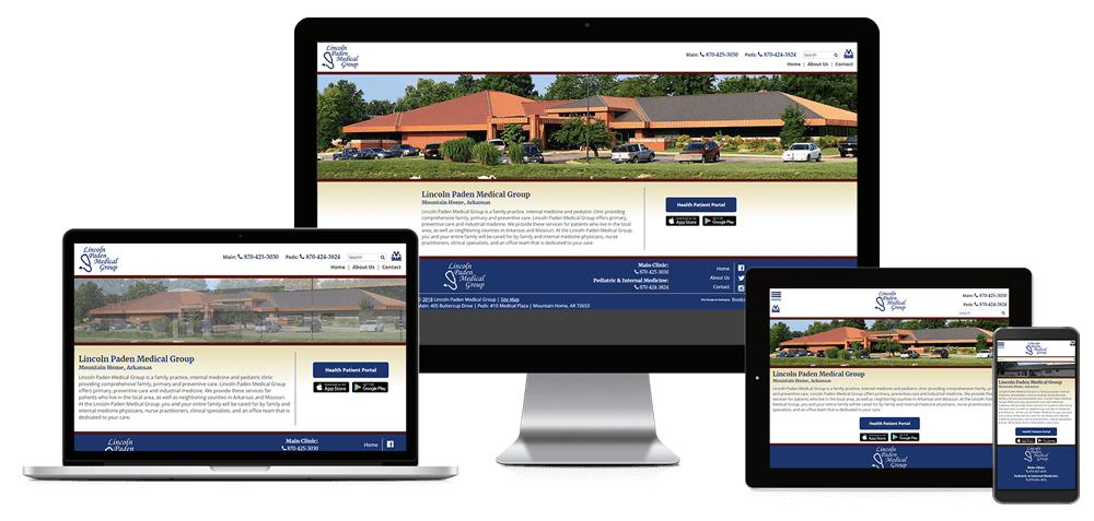 Lincoln Paden Medical Group - Responsive Website