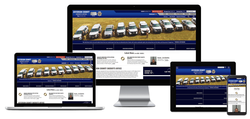 Jefferson County Sheriff's Office, Kansas - Responsive Website
