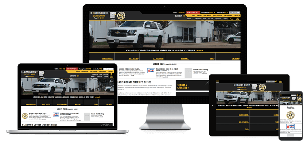 St. Francis County Sheriff, Arkansas - Responsive Website