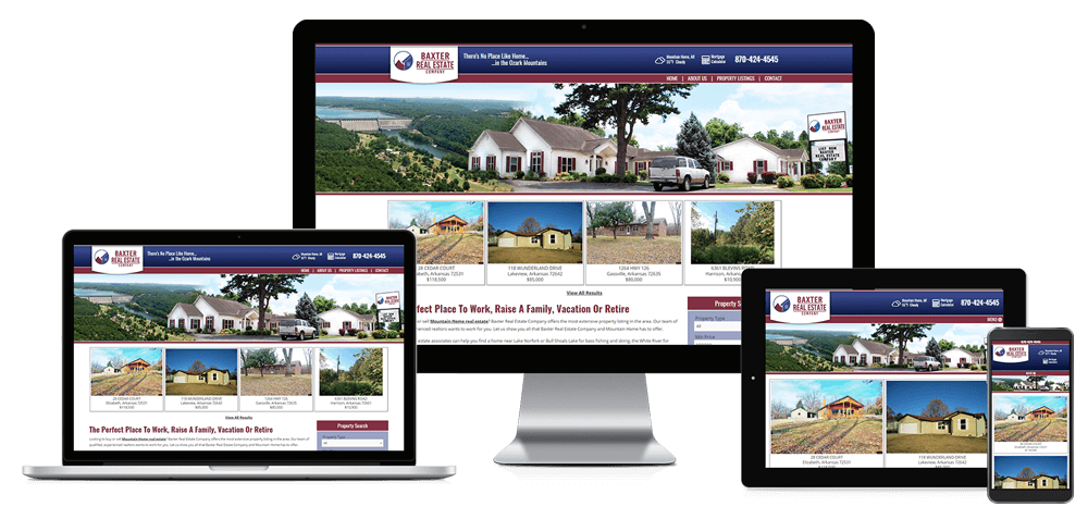 Baxter Real Estate Company - Responsive Website