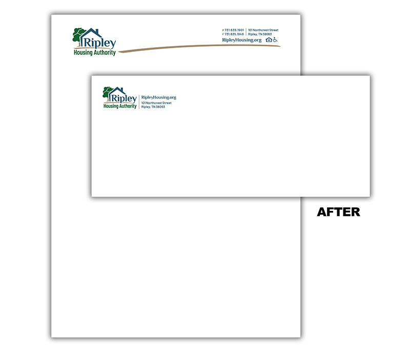 Ripley Housing Authority - Digital Stationery – Before & After Example
