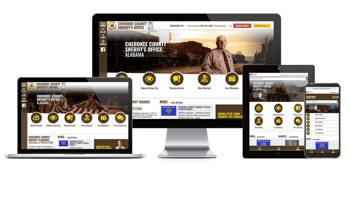 Cherokee County Sheriff - Responsive Website