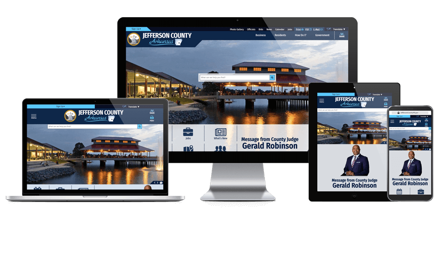 Jefferson County AR Government - Responsive Website