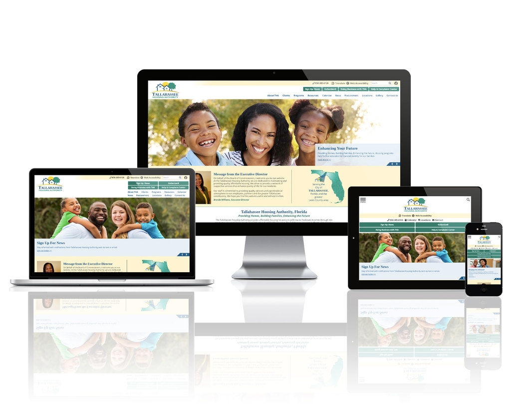 Tallahassee Housing Authority, Florida - Responsive Website