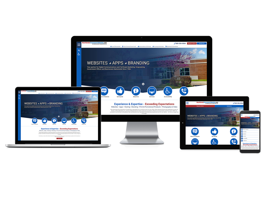 Most Wanted Government Websites - Responsive Website