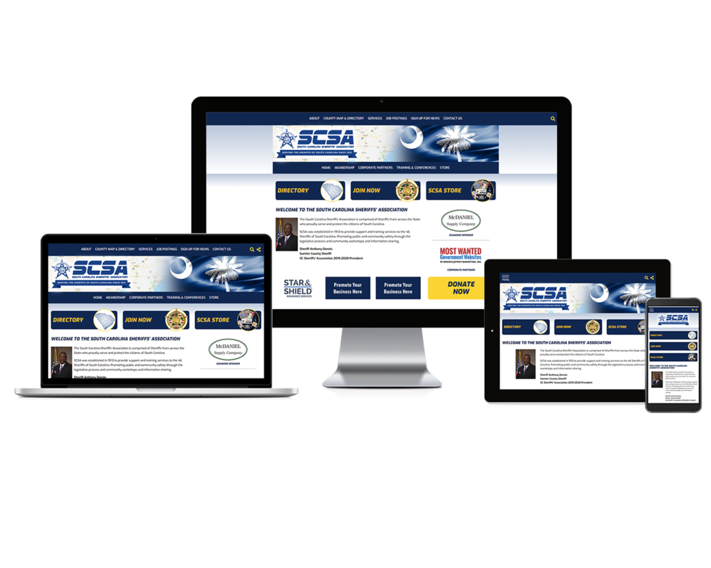 South Carolina Sheriffs' Association - Responsive Website