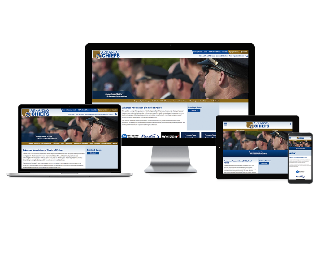 Arkansas Association of Chiefs of Police - Responsive Website