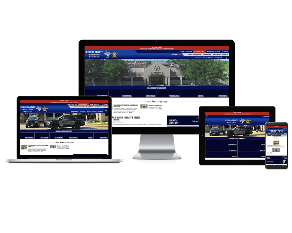 Kleberg County Sheriff's Office, Texas - Responsive Website