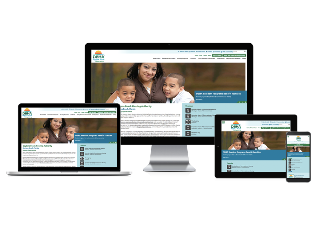 Daytona Beach Housing Authority, Florida - Responsive Website
