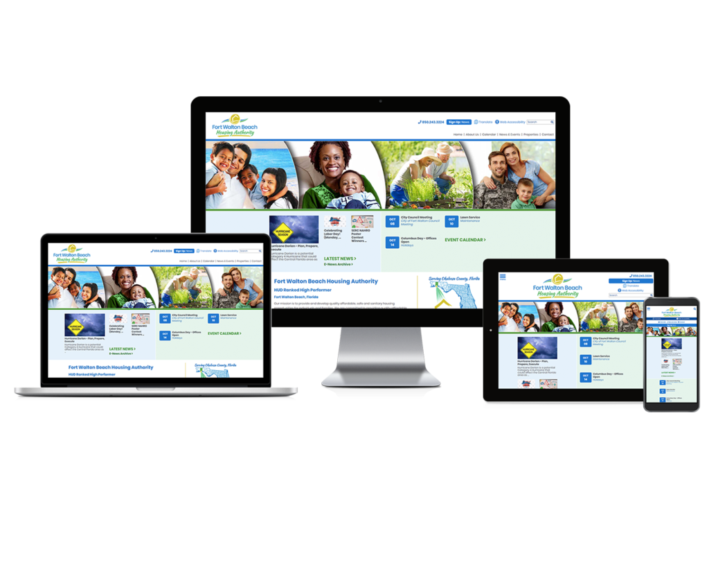 Fort Walton Beach Housing Authority, Florida - Responsive Website