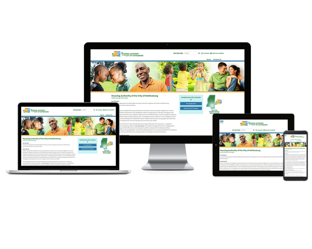 Hattiesburg Housing Authority, Mississippi - Responsive Website