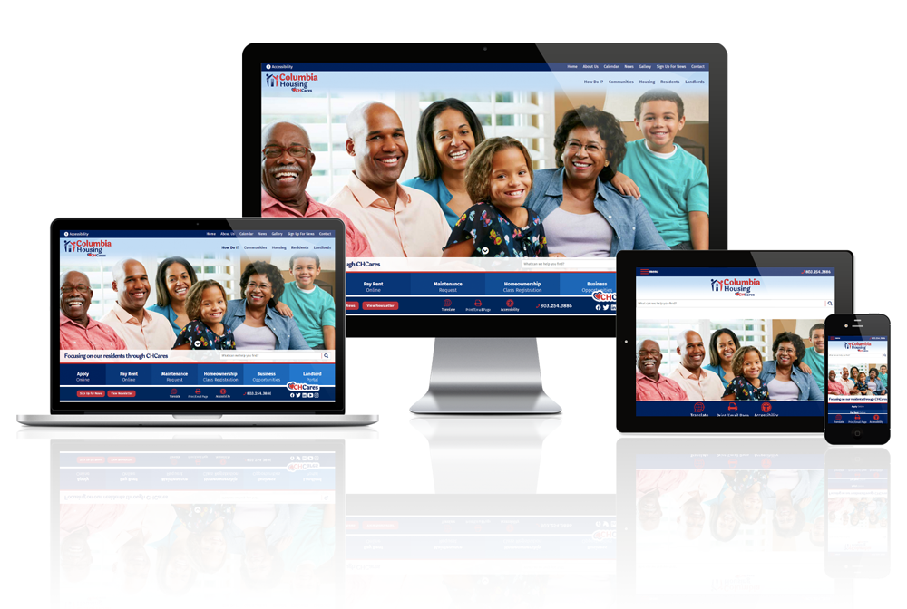Columbia Housing, South Carolina - Responsive Website