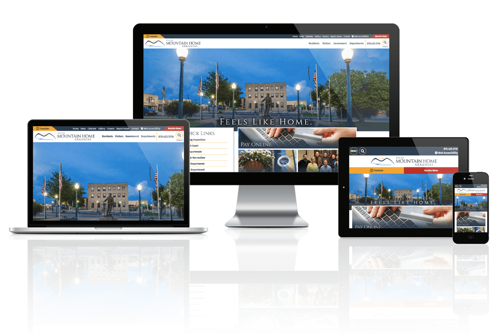City of Mountain Home, Arkansas - Responsive Website