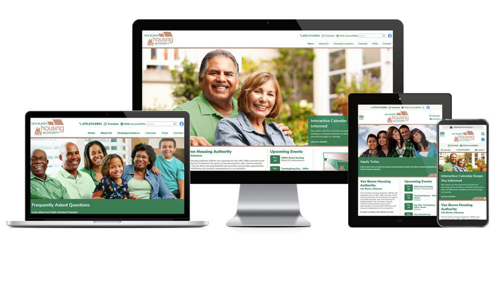 Van Buren Housing Authority, Arkansas - Responsive Website