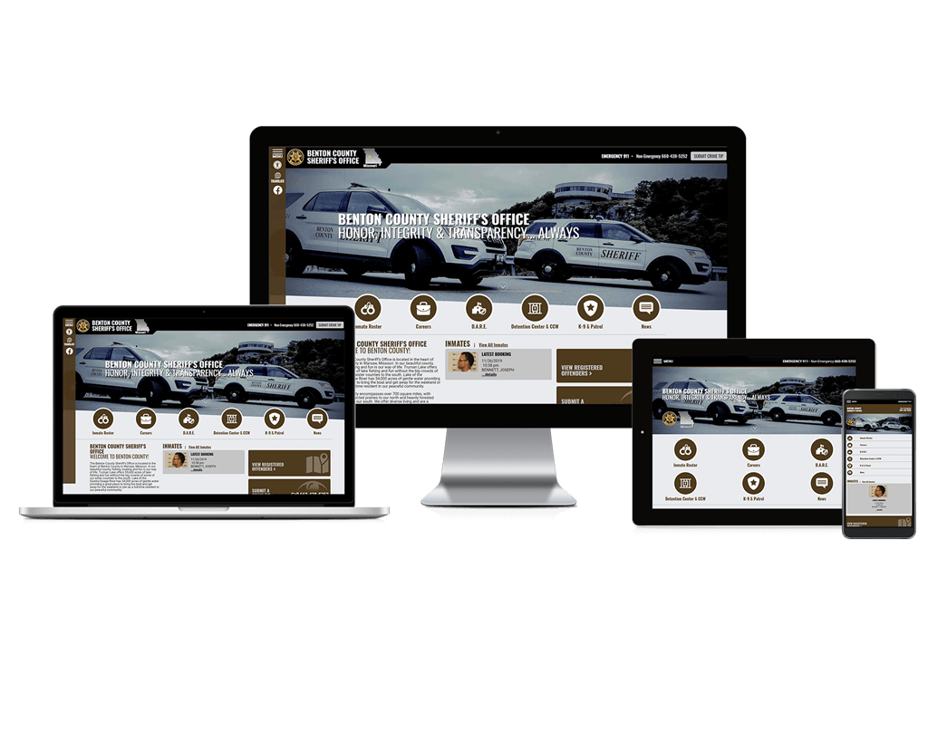 Benton County Sheriff's Office, Missouri - Responsive Website