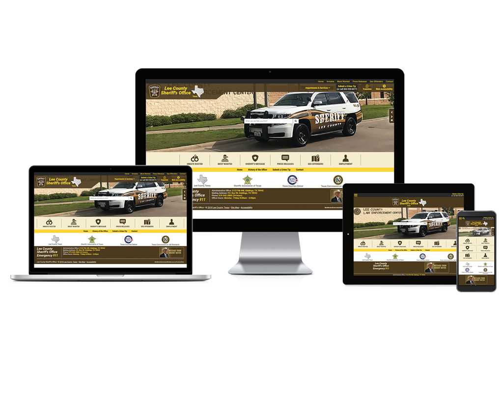 Lee County Sheriff's Office, Texas - Responsive Website