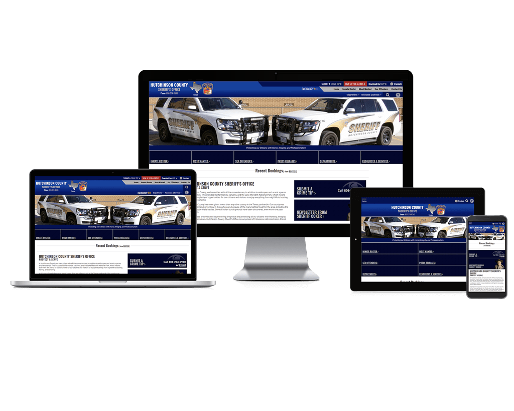 Hutchinson County Sheriff's Office, Texas - Responsive Website