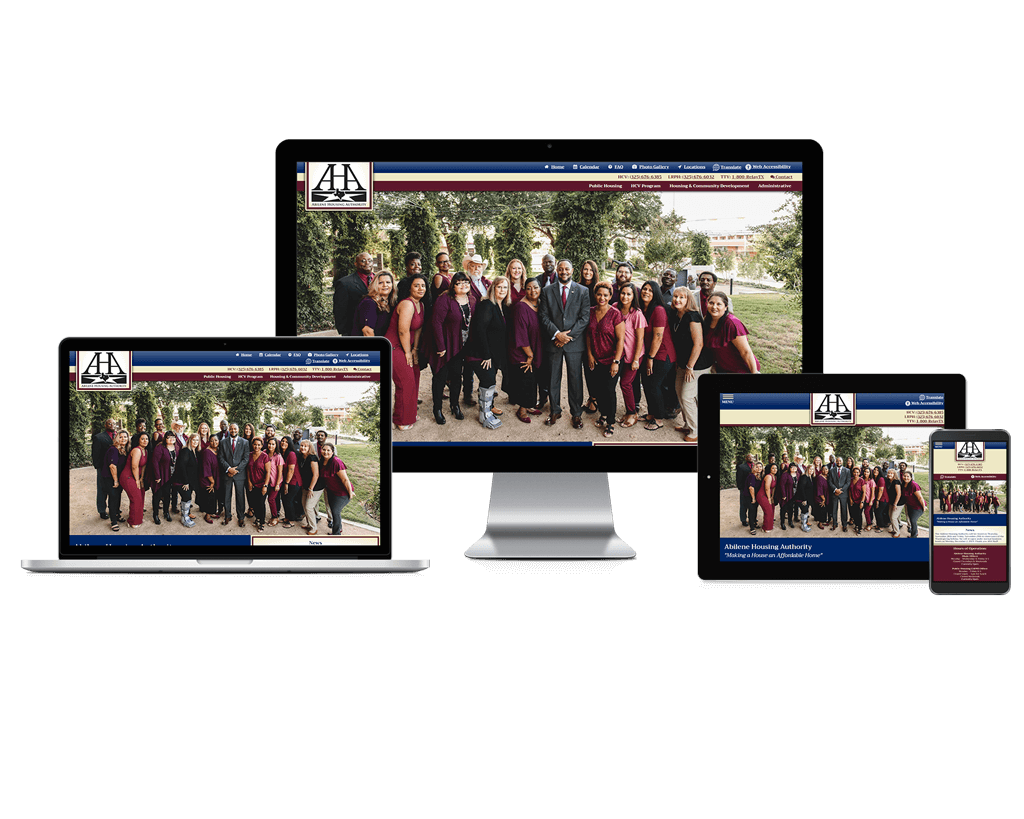 Abilene Housing Authority, Texas - Responsive Website