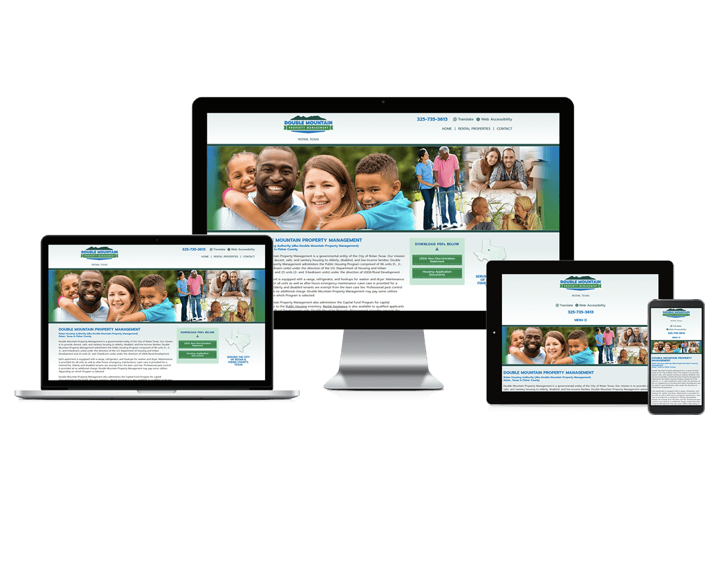 Rotan Housing Authority, Texas - Responsive Website