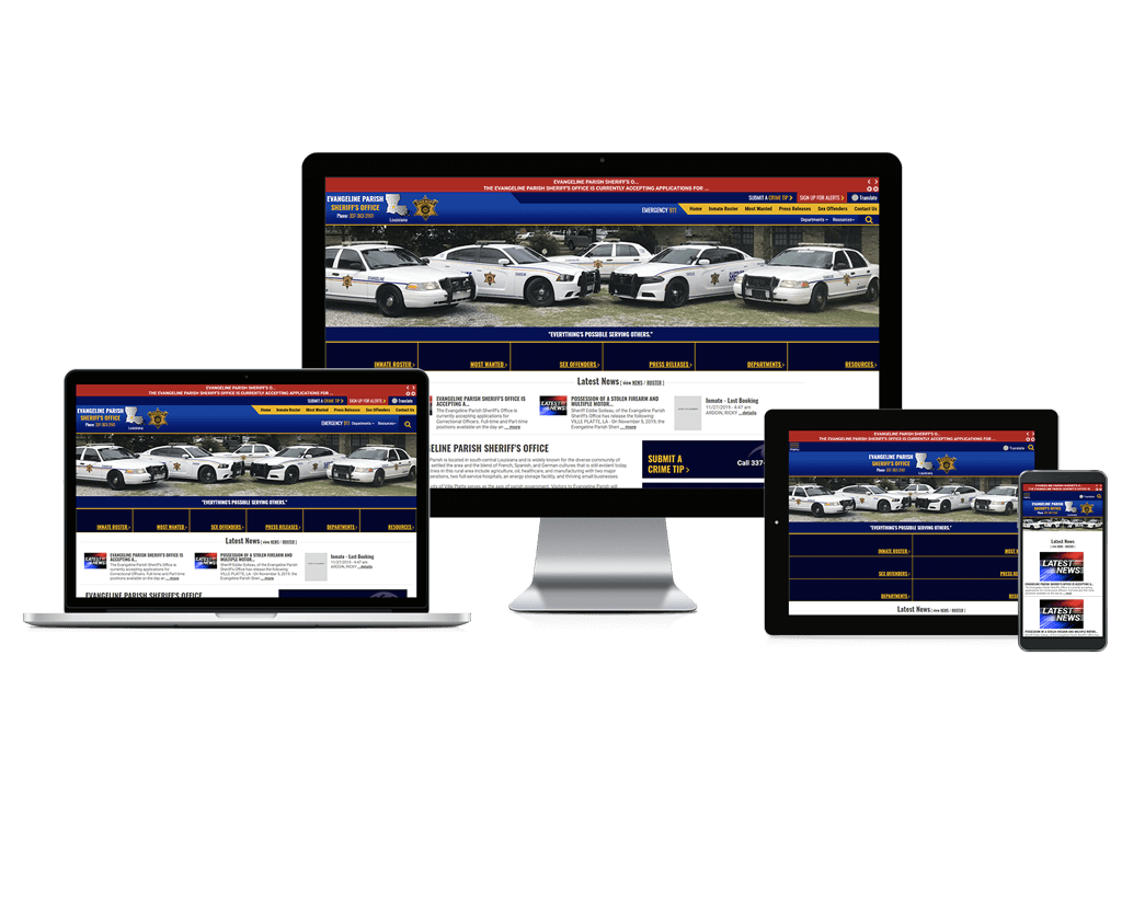 Evangeline Parish Sheriff's Office, Louisiana - Responsive Website
